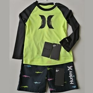 Booked-Hurley 2-3T toddlers swim set